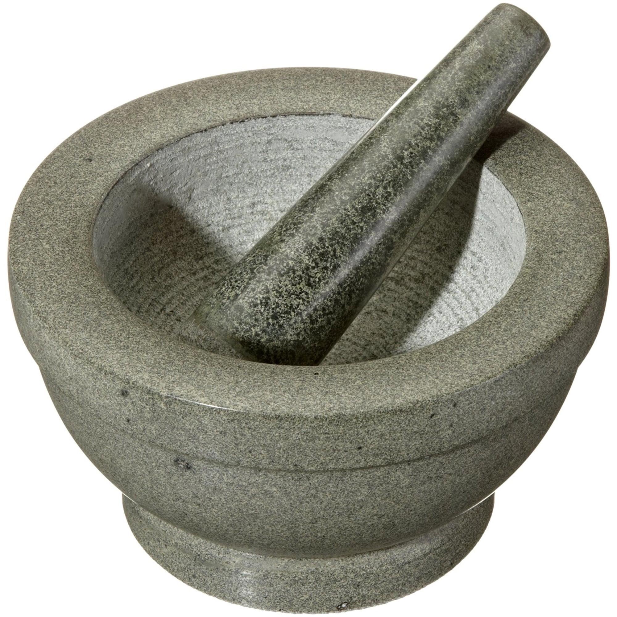 Cilio Giant Granite Mortar and Pestle - 8 Inches