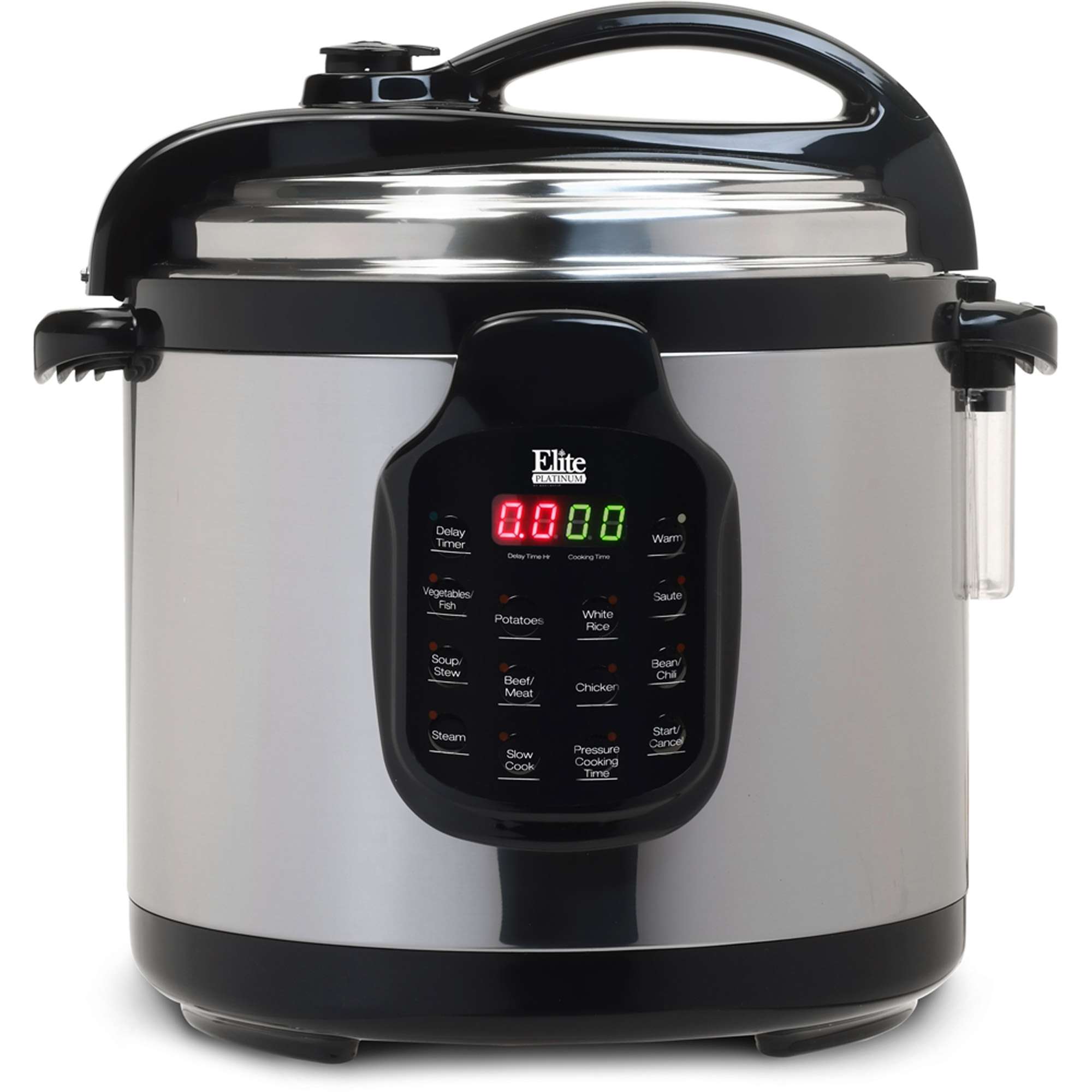 Elite Platinum EPC-678SS 6 qt Electric Stainless Steel Pressure Cooker with Stainless Steel Pot
