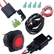 Nilight Off Road LED Light Bar Wiring Harness Kit 12V/40A Relay On/off on