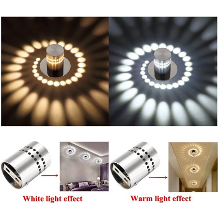 3W Aluminum LED Pendant Lamp Ceiling Light Fixture Chandelier Spiral Lighting