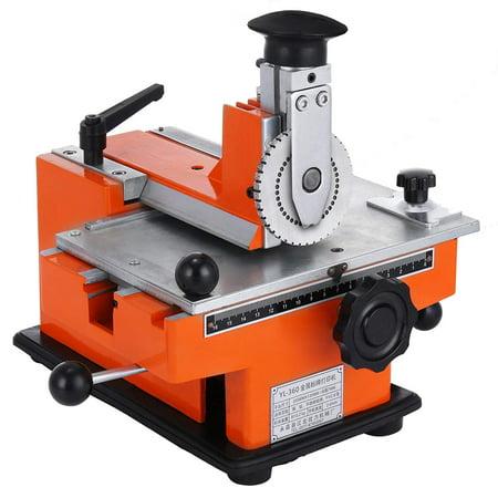BestEquip Semi-Automatic Sheet Embosser 4mm Plate Embossing Label Maker Machine