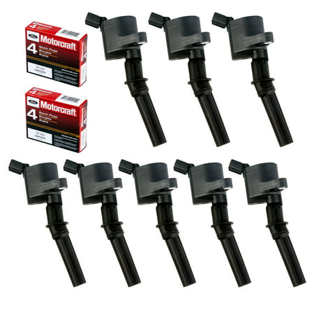 Set of 8 Ignition Coil DG508 & Motorcraft Spark Plug SP493 for Ford Lincoln Mercury 4.6L engines DG457 DG472 DG491 F523 3W7Z12029AA 1L2U12029AA 1L2U12A366A