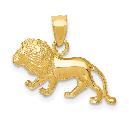 14kt Yellow Gold Lion Pendant Charm Necklace Animal Tiger Fine Jewelry Ideal Gifts For Women Gift Set From Heart