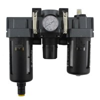 """EXELAIR™ by Milton FRL Air Filter, Regulator, and Lubricator System - 1/4"""" NPT - Polycarbonate Bowl, Automatic Float (EX45FRL40A-02P)"""