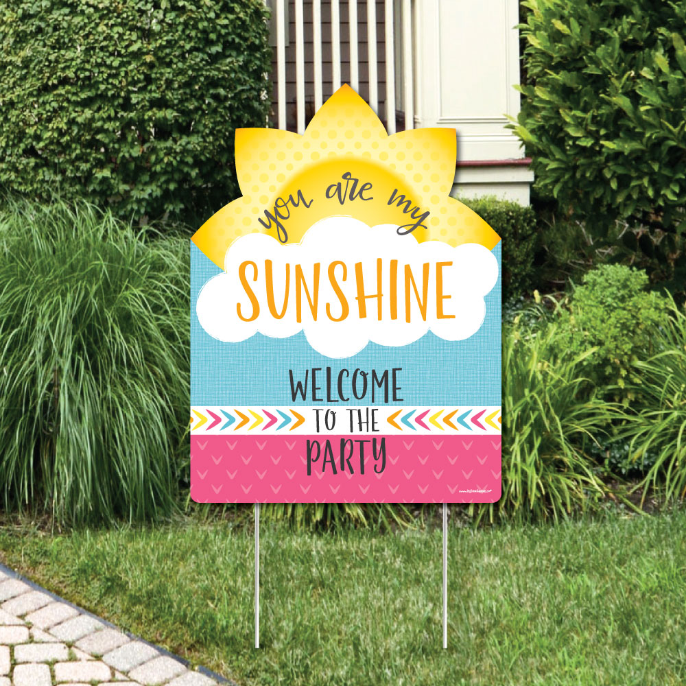 You Are My Sunshine - Party Decorations - Birthday Party or Baby Shower Welcome Yard Sign