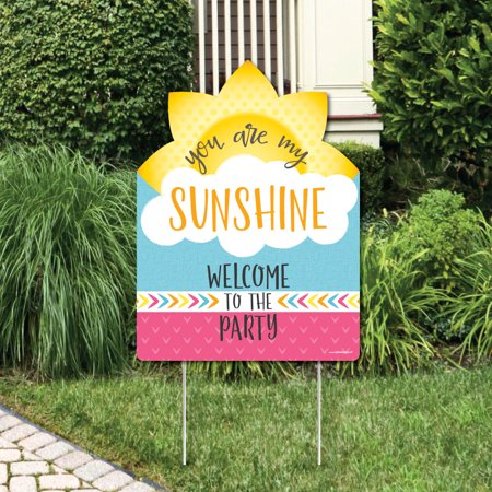 You Are My Sunshine - Party Decorations - Birthday Party or Baby Shower Welcome Yard Sign (You Are My Sunshine Baby Shower Decorations)