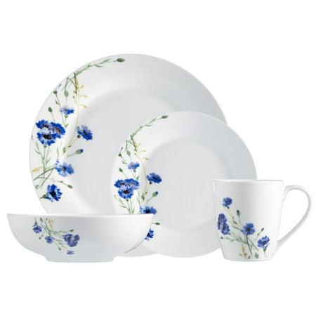 Safdie & Co. 16-Piece Dinnerware Set, White, Garden