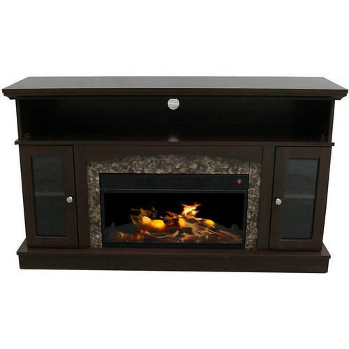 "Decor Flame Electric Fireplace for TVs up to 60"" Chestnut"
