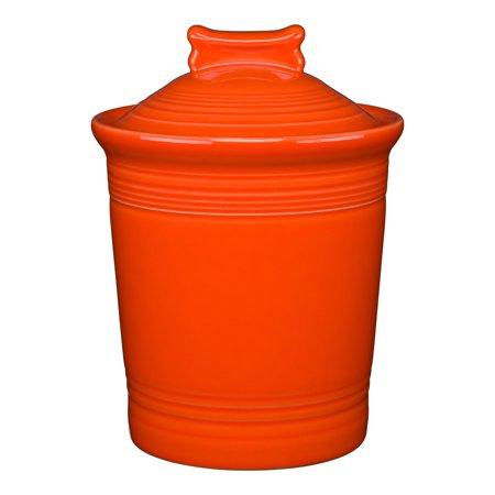 Food Dog Treat Jar (Fiesta®  Dog Bone Treat Jar - Poppy Orange )