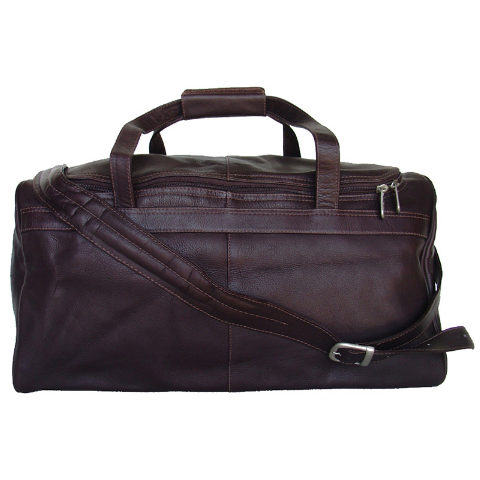 Piel Leather Travelers Select Small Duffel Bag - Chocolate