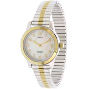 Timex Women's Essex Avenue Two-Tone Extra Long Stainless Steel Expansion Band Watch