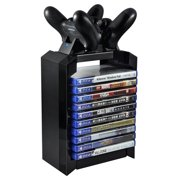 Game Disk Tower Vertical Stand for PS4 Dual Controller Charging Dock Station for PlayStation 4 PRO Slim