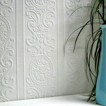 Brewster Ada Paintable Textured Vinyl - Paintable Wallpaper Borders