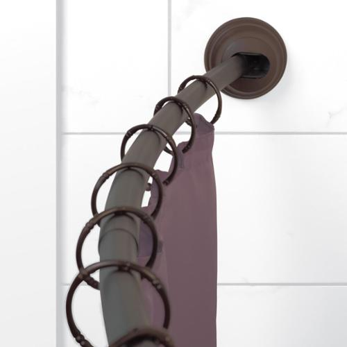 Zenna Home Oil Rubbed Bronze Adjustable Curved Tension Shower Rod