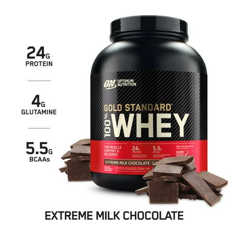 Optimum Nutrition Gold Standard 100% Whey Protein Powder, Extreme Milk Chocolate, 24g Protein, 5 Lb Extreme Smoothie Chocolate