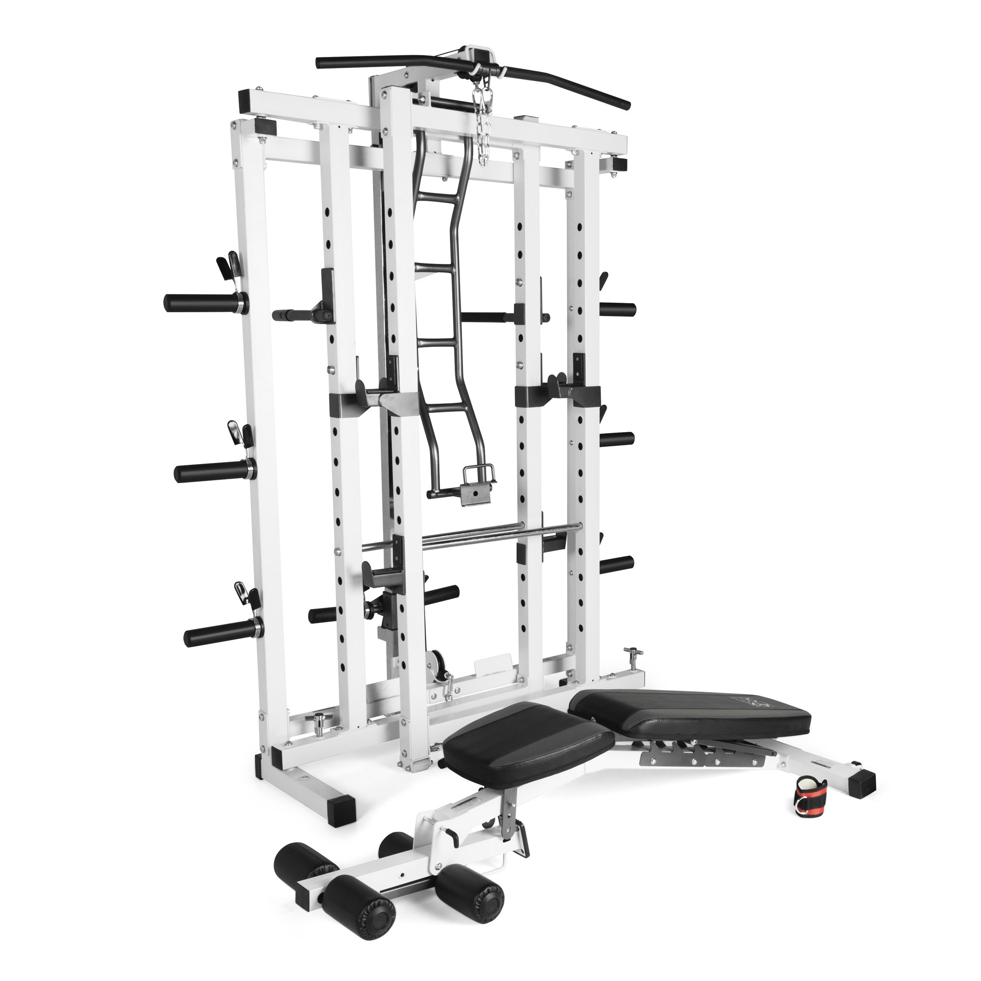 Marcy Pro Deluxe Folding Total Body Home Gym Cage Power Rack System with Bench by Marcy Fitness