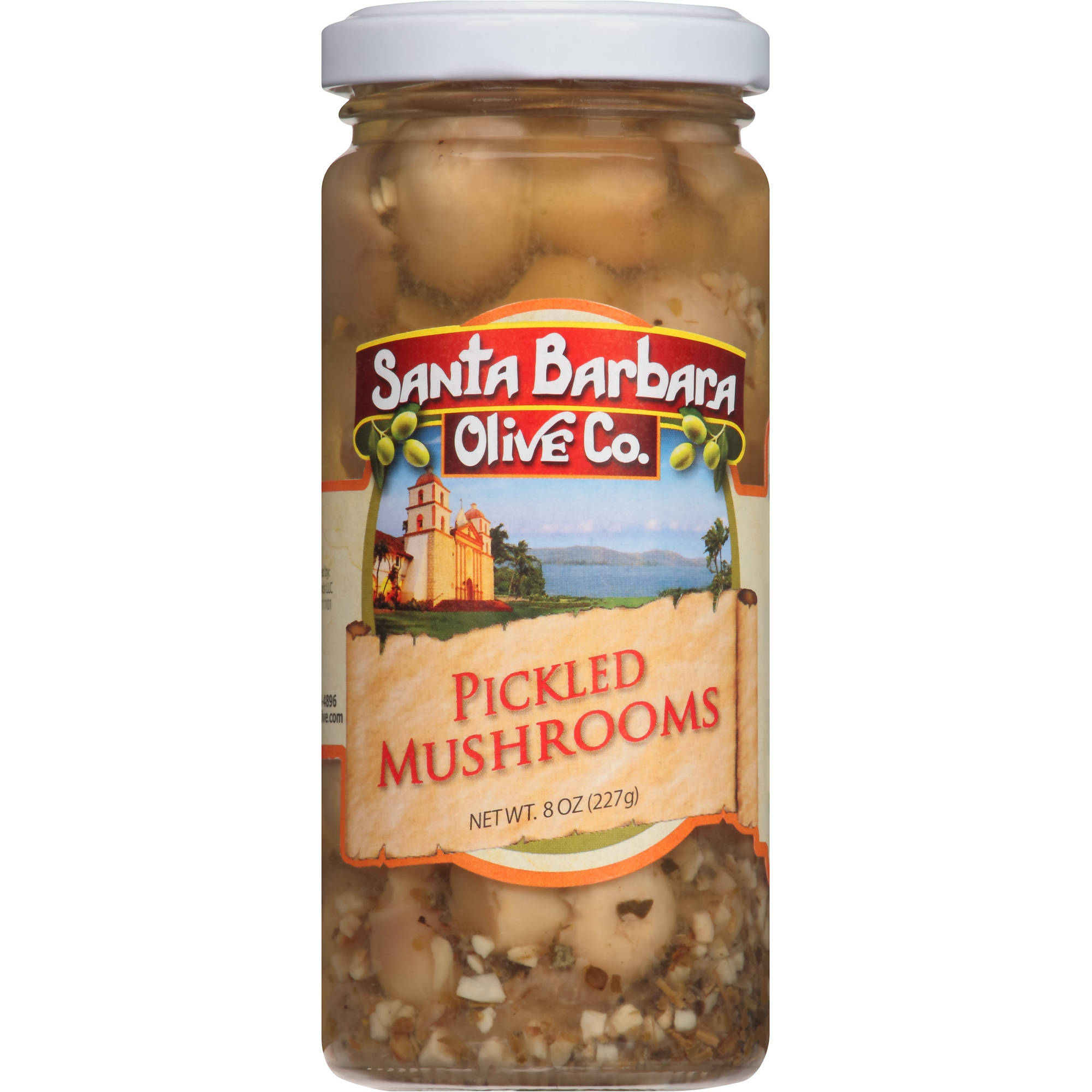Santa Barbara Olive Co. Pickled Mushrooms, 8 oz