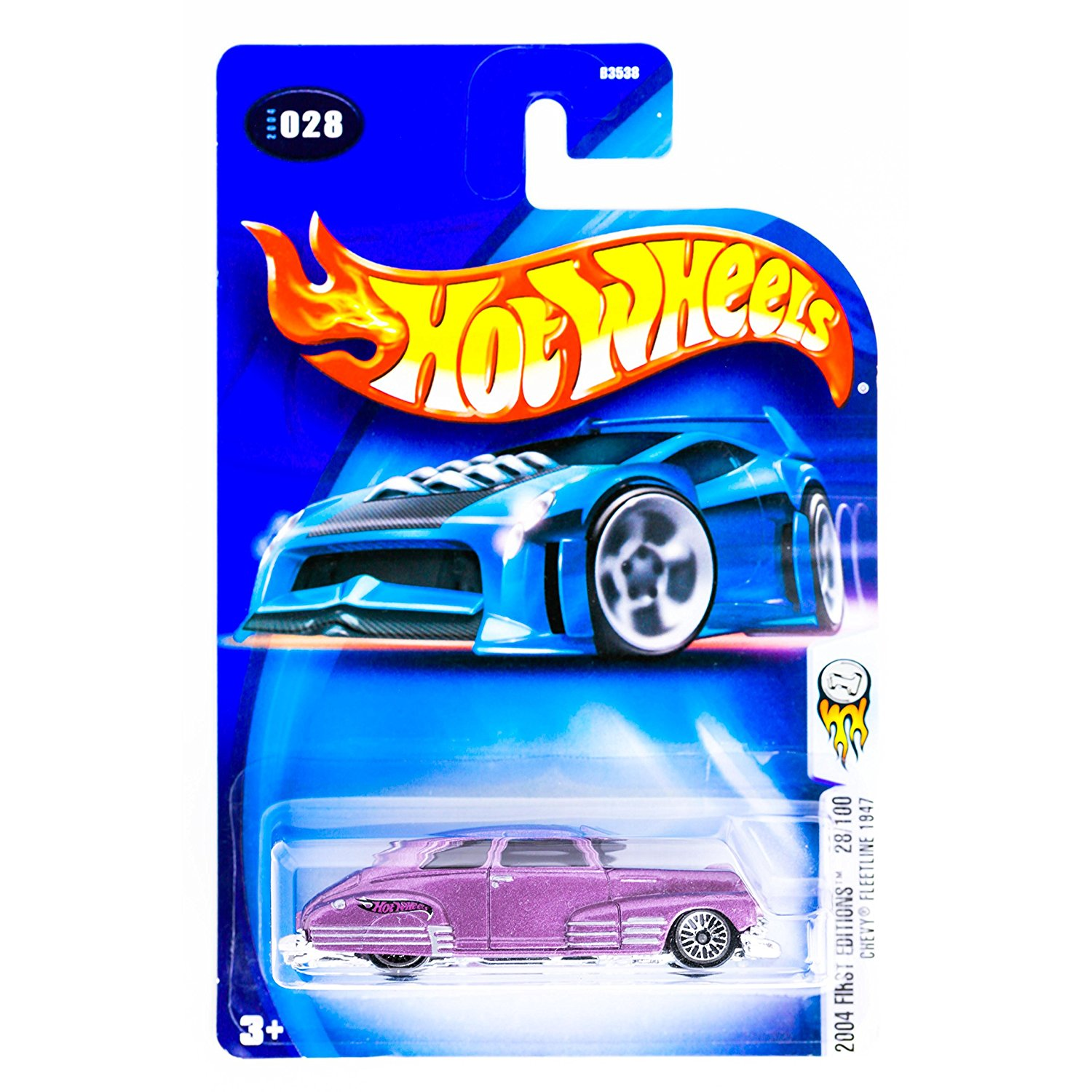 Mattel 2004 First Editions 1:64 Scale Purple 1947 Chevy Fleetline Die Cast Car #028 By Hot... by