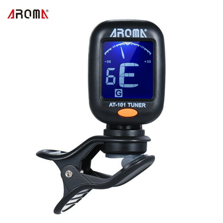- AROMA AT-101 Portable Mini Clip-on Digital Tuner with Foldable Rotating Clip High Sensitivity for Chromatic Guitar Bass Violin Ukulele