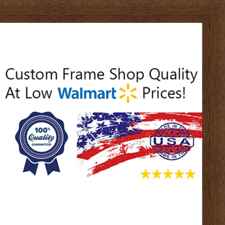 6x8 Flat Dark Brown Wood Frame -