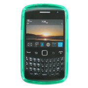 Sprint High Gloss Silicone Case for Blackberry 9350 (Green)