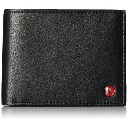 RFID Blocking Mens Leather Bifold Wallet Removable ID Card