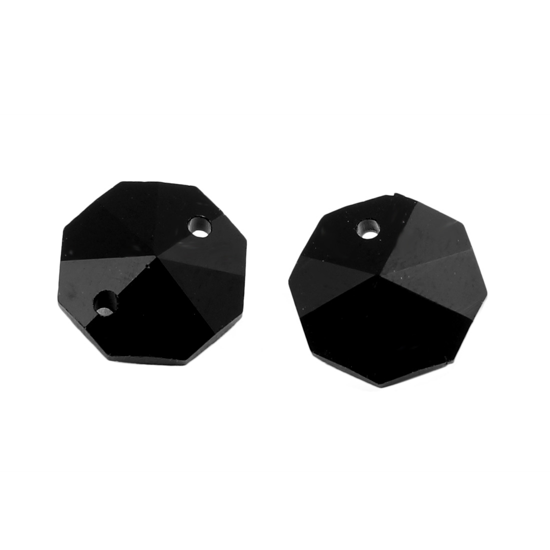 30pcs 14mmx14mm Octagonal Crystal Beads Black for DIY Light Accessories - image 1 de 2