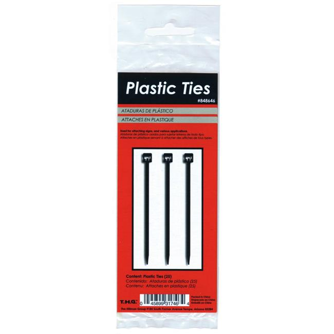 Hillman Group 848646 5.5 in. Durable Plastic Zip Ties, Black - 5 Piece - image 1 de 1