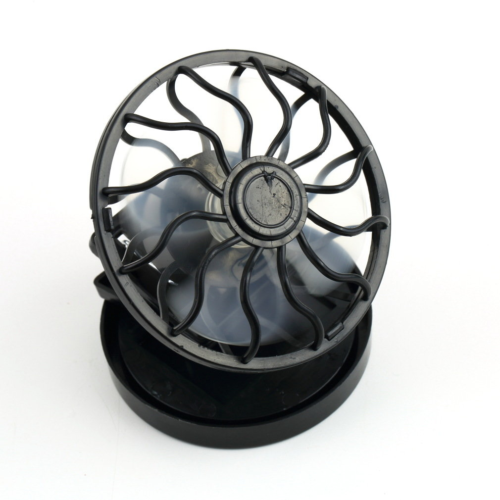 Portable Solar Fan,Energy Saving Clip-on Mini Solar Power Cell Fan For Traveling /Fishing/Climbing,Black