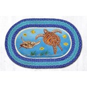 "Earth Rugs OP-384 Sea Turtle Oval Patch 20"" x 30"""