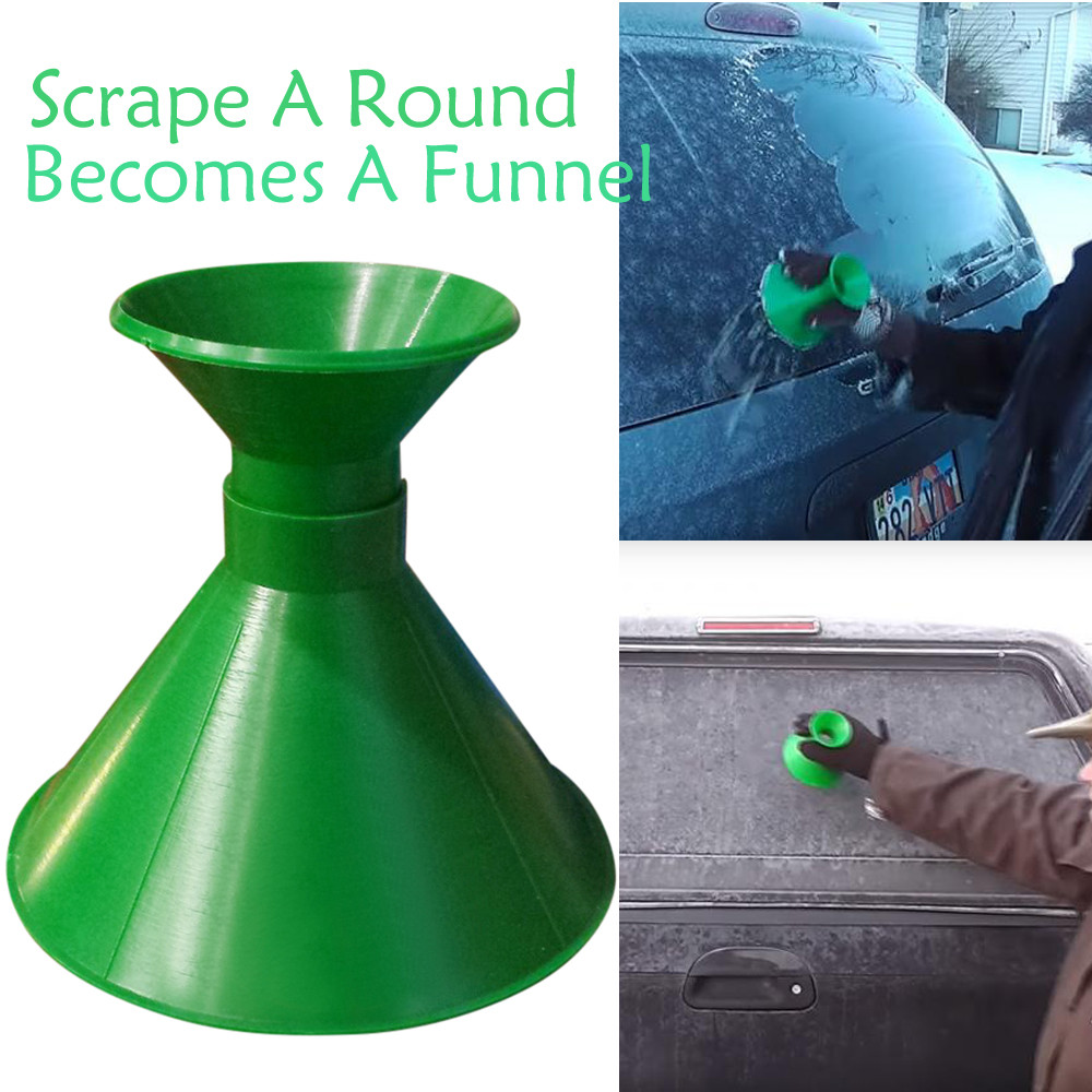 Scrape A Round Magic Cone-Shaped Windshield Ice Scraper Snow Shovel Tool BU