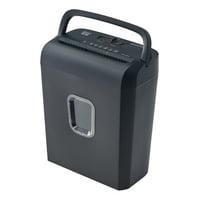 Pen + Gear 6 Sheet Micro Cut Shredder with 3.4-Gallon Collection Bin, Black
