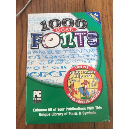 1000 Best Fonts PC CD - ROM by Fonts Platform : Windows XP Ships N