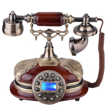 Mgaxyff Retro Vintage Antique Style PhoneTelephone Rotary Dial Antique Telephones Landline Phone ,Retro Vintage Telephone Plate Rotary Dial Antique Telephones Landline Phone For Office Home Hotel, Imi ()
