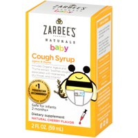Zarbee's Naturals Baby Cough Syrup with Agave & Thyme , Natural Cherry Flavor , 2 Fl. Ounces (1 Box)