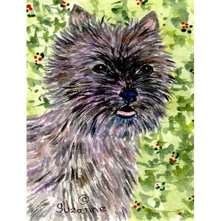 Caroline's Treasures Cairn Terrier 2-Sided Garden Flag