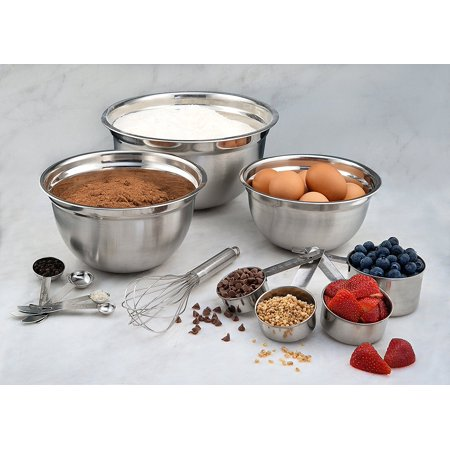 Estilo Mix & Measure Stainless Steel Measuring Cups and Spoons (Set of 12), Silver