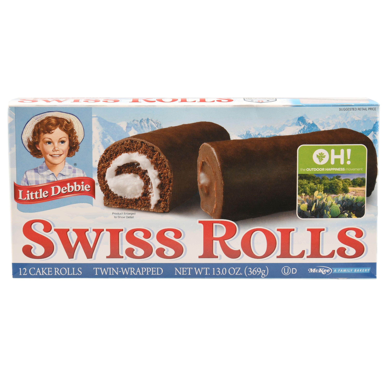 Little Debbie Swiss Cake Rolls America's Original 12 Ct Snacks, 13 Oz