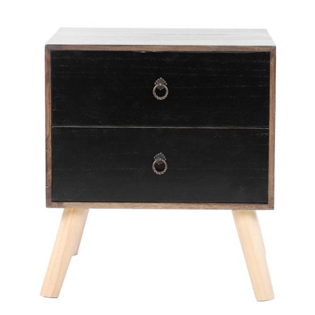 EBTOOLS Bedside Table Nightstand Side Tables with 2 Drawer