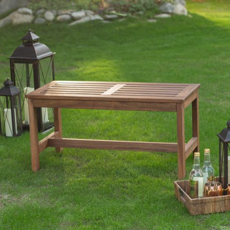 Coral Coast 3 ft. Outdoor Wood Backless Bench - Dark (Backless Park Bench)