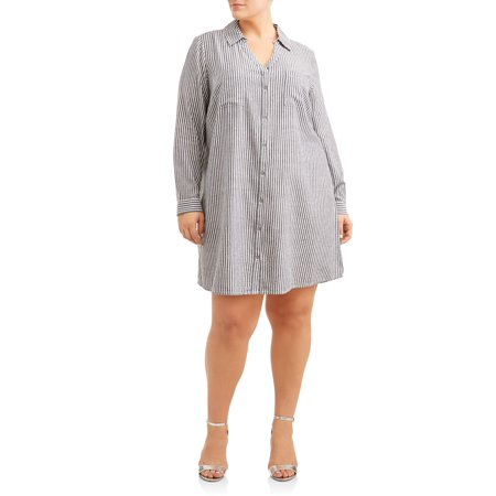 Women's Plus Size Button Down Shirt - Plus Size Victorian Dresses