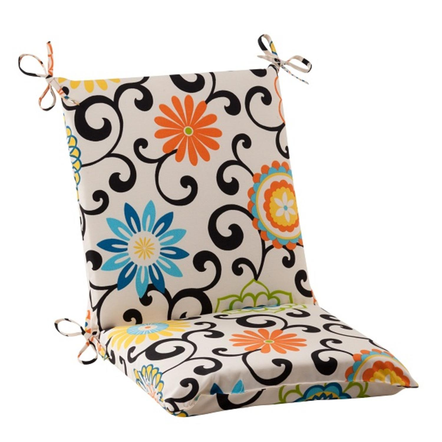 """36.5"""" Waverly Summer Flower Outdoor Patio Furniture Square Chair Cushion"""