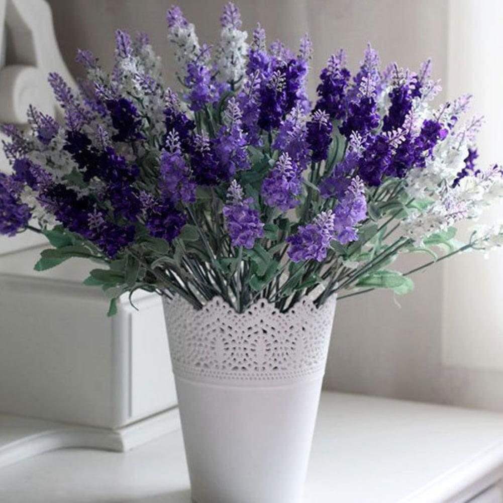 Moderna 10 Heads 1 Bouquet Faux Silk Lavender Fake Garden Plant Flower Home Decor