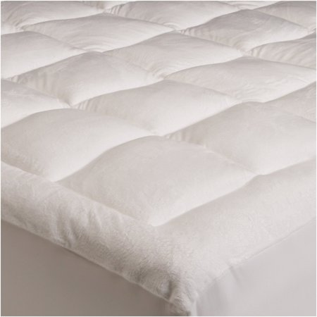 Mezzati Luxury Pillow top Quilted Mattress Pad with Fitted Skirt - Down Alternative Filling - Super Soft, Extra Plush Topper - Deep Pocket - Cal (Best Luxury Mattress Pad)
