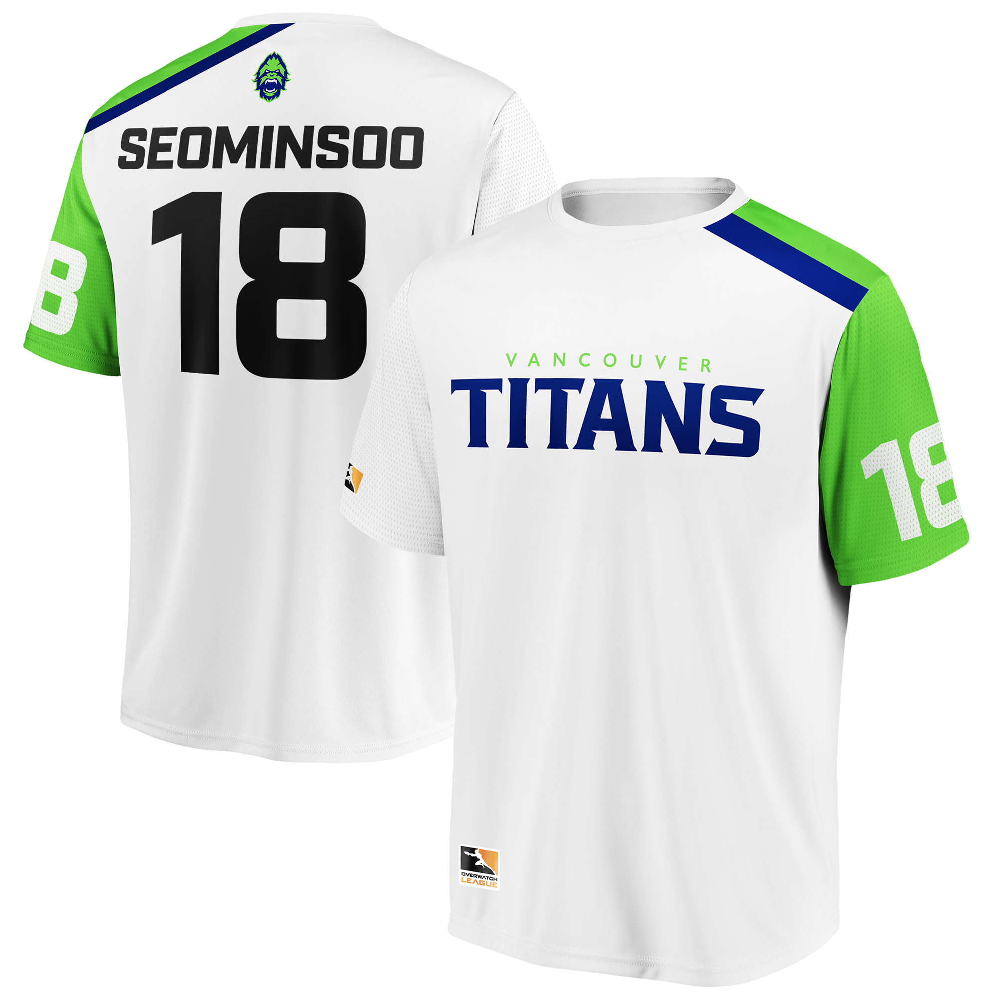 SeoMinSoo Vancouver Titans Overwatch League Replica Away Jersey - White