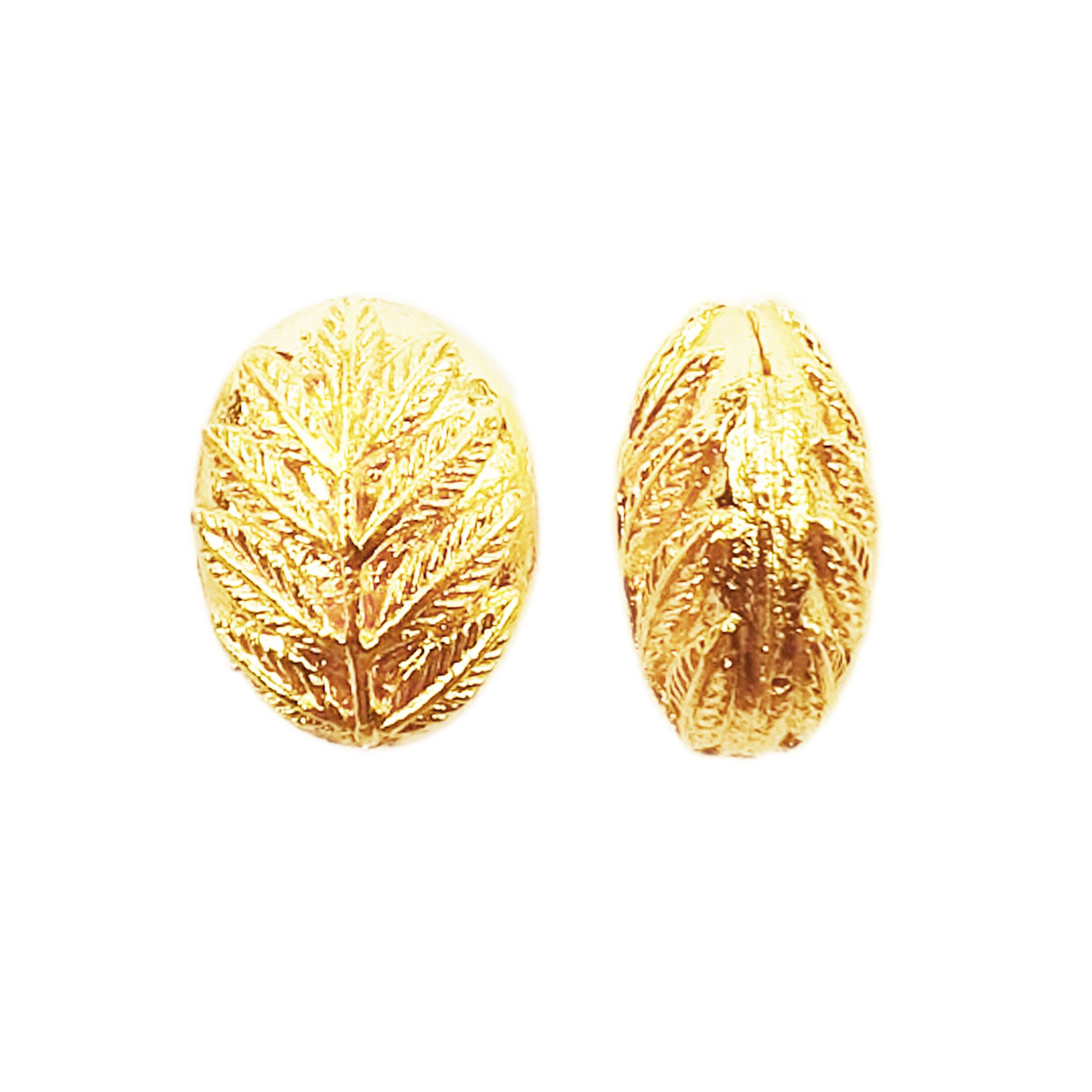 BG-129 18K Gold Overlay Bali Bead