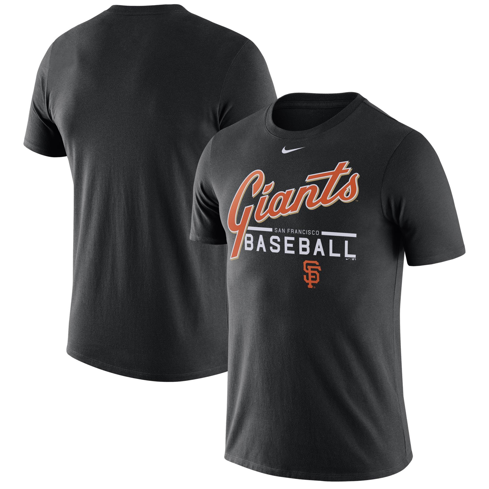 Men's Nike Black San Francisco Giants Practice T-Shirt -