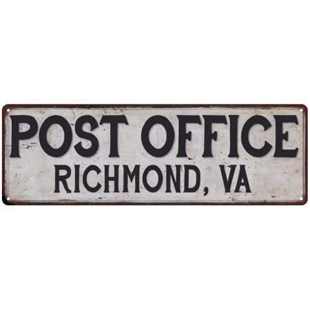 Richmond, Va Post Office Personalized Metal Sign Vintage 8x24 108240011089 ()
