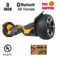 "Hoverboard 8"" Hummer Auto Self Balancing Wheel Electric Scooter with Built-In Bluetooth Speaker - Orange"