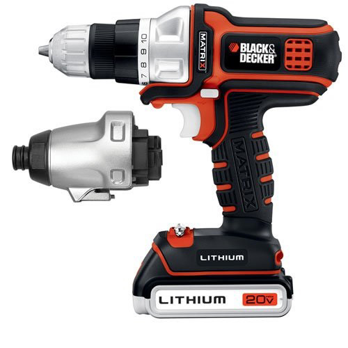 Black & Decker Matrix 20V Lithium Drill/Driver and Impact Head, BDCDMT120IA